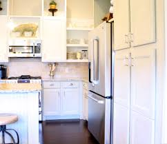 Finished Cabinet Doors How To Paint Cabinets Black Appliances White Ceramics And