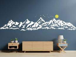 large mountains wall decal for kids
