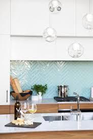 Light Blue Herringbone Tile Herringbone Light Blue Tile Pattern With White Cabinets In