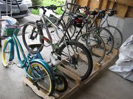 how to build a wood bike rack