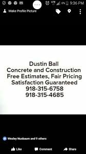 Dustin Ball Concrete and Construction - Reviews | Facebook
