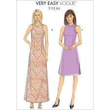 A Line Dress Pattern Classy Misses And Misses Petite SideSlit ALine Dresses Vogue Sewing