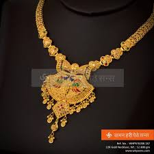 Ganthan Design In Gold For Women Of Style This Scintillating Necklace Is The