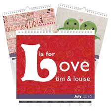 personalized anniversary calendar