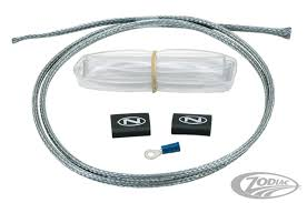 stainless steel braided wiring harnesses zodiac the do it yourself kit it s easy to improve the look of the stock black wire that exits the regulator kit includes stainless steel braided wire