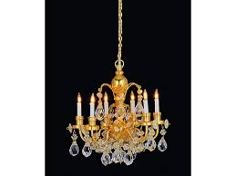 dolls house 6 arm real crystal chandelier gold finish miniature electric light