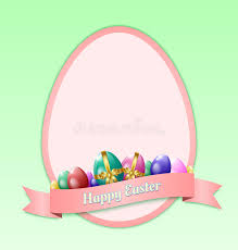 Easter Greeting Card Template Happy Easter Greeting Card Template Stock Vector Illustration of 2
