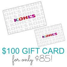 ed kohls gift card 100 for only 85