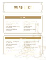 Free Wine List Template Download Customize 248 Wine Menu Templates Online Canva