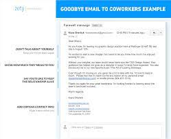 goodbye email to coworkers farewell
