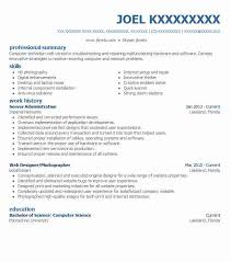 Server Administration Resume Sample | Livecareer