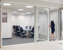 glass office wall. monterey bifolding glass wall office system