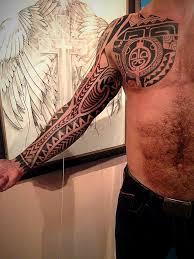 тату рукав в стиле полинезия фото рисунки эскизы
