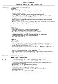 It Internship Resume Samples It Intern Resume Samples Velvet Jobs