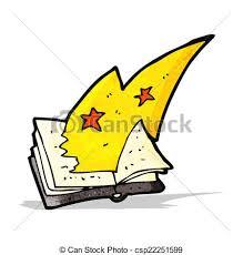 cartoon magic spell book csp22251599