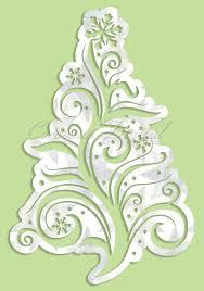 Christmas Swirls Holiday Winter Christmas Swirls Tree 5 Svg Dxf Gsd Digital Cutting File Instant Download