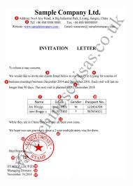 Sample Letter Of Invitation - Chinese Visas