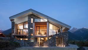 modern mountain house incredible houses glass  house plans