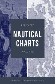 Nautical Charts New England Coast 25 45 Printable Art Nautical Charts Map Wall Art Digital