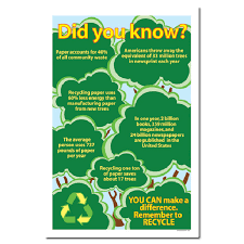 rp149 - Recycling Poster, Recycling placard, recycling sign, recycling  memo, recycling post