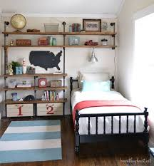 Industrial Shelves {for a boy's room