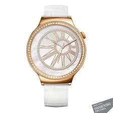 huawei watch rose gold. huawei watch rose gold - pearl white leather strap with sawarovski huawei watch rose gold