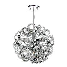 large round crystal ceiling light ribbon style chrome finish pendant suspension chandelier l