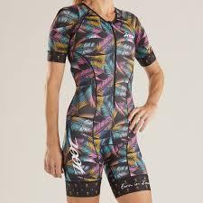 Zoot Ltd Tri Aero Short Sleeve Race Suit Alii 2019 Womens