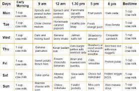 1 To 3 Year Baby Food Chart Bedowntowndaytona Com