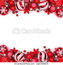 Christmas Ornaments Border Red Christmas Ornament Double Border Isolated On White