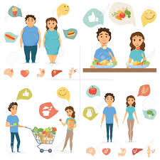 Junk Food Healthy Food Chart Healthy Food Infographics Couple Lifestyle Concept Nutrition