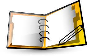 notebook clip art at clker vector clip art royalty free public domain
