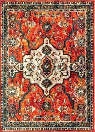 oriental weavers orange blue area rug and mistana hillsby