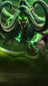 world of warcraft illidan stormrage horns wings