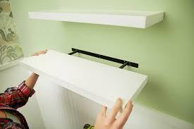 how to install floating shelves add shelf casing