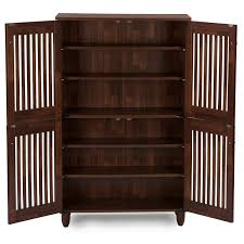 shoe storage furniture for entryway. amazoncom wholesale interiors baxton studio fernanda modern and contemporary 4door oak brown wooden entryway shoes storage tall cabinet kitchen u0026 dining shoe furniture for z