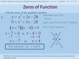 mm2a3 students will yze quadratic functions in the forms f x ax 2