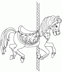 Small Picture Coloring Pages Animals Carousel With Horse Also 1 And By Besides