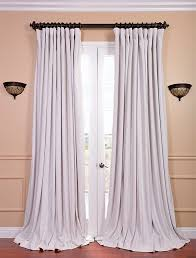 signature off white double wide velvet blackout pole pocket curtain could be a great find for ds