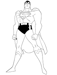 Small Picture Superhero Coloring Book 224 Coloring Page