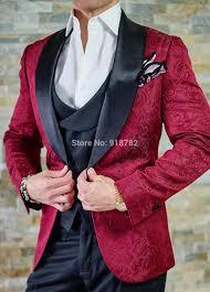 Latest Blazer Designs 2018 Us 67 76 23 Off Latest Coat Pant Designs 2018 Costume Mariage Homme Burgundy Blazer Black Vest Pant Wedding Groom Suit Tuxedo Groomsman Suit In