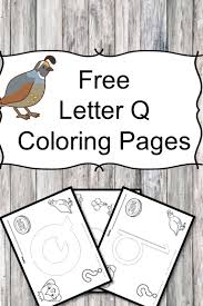 Small Picture Letter Q Coloring Pages