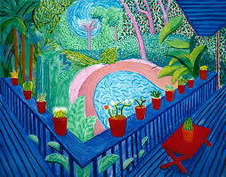 Image result for cartoon david hockney