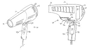 patent us8302324 oscillating hair dryer google patents patent drawing