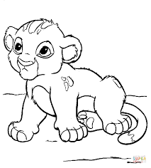Small Picture Baby Simba coloring page Free Printable Coloring Pages
