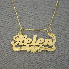details about small personalized solid 14k gold name pendant box chain dia cut heart bp05