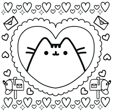 Pusheen Cat Coloring Pages For Kids With Fresh Design Pusheen Cat