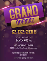 Now Open Flyer Template 230 Grand Opening Customizable Design Templates Postermywall