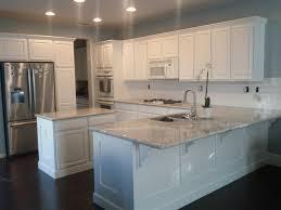 My new kitchen! River White Granite. Benjamin Moore White Dove ...