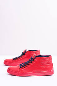 men s leather sneakers red torres